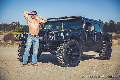 Chris and the Hummer H1