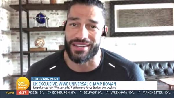 Roman Reigns - Screencaps / GMB Interview April 8, 2021