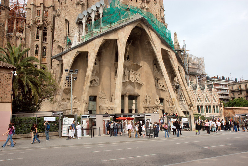 Entrance to Sagrada Familia
