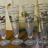 4 beer glasses with horses. Rarely use fo rno reason. Think they were wedding gift for parents.