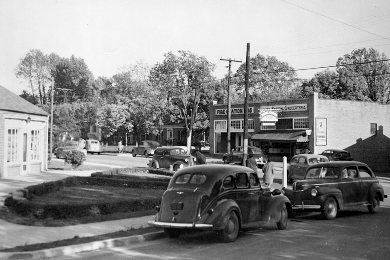 Original Station 6, mid- to late-1940s. North Carolina State Archives photo.