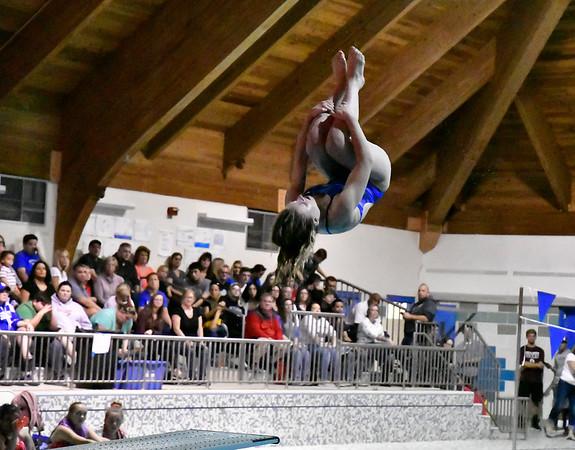 10/12/2019 Mike Orazzi | StaffrBristol Eastern's Alexsia Newman during the city swim meet on Saturday night.