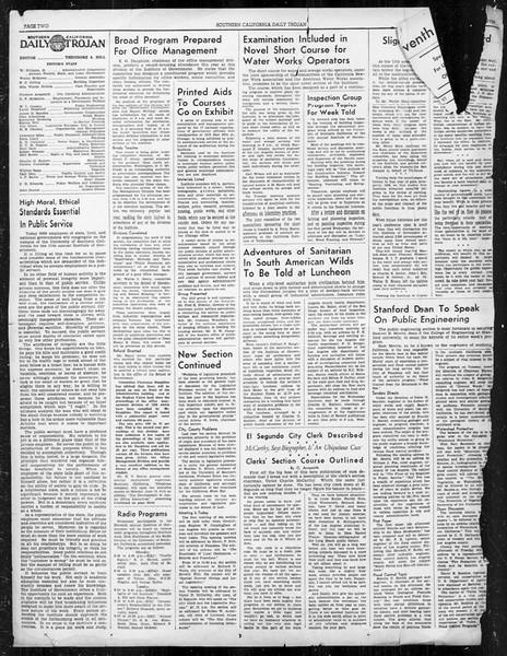 Southern California Daily Trojan: U.S.C. Institute of Government, Vol. 6, No. 1, June 12, 1939