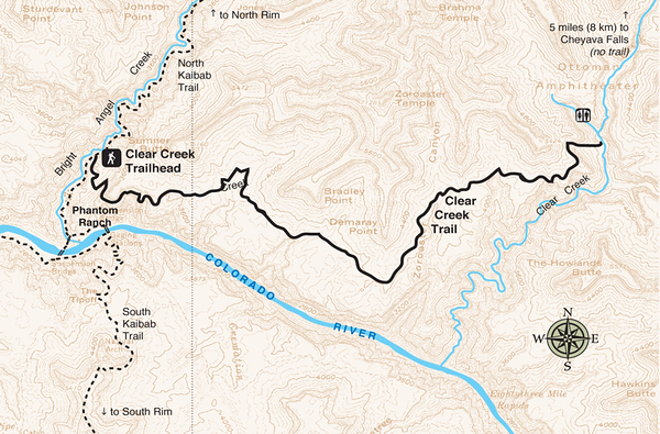 Grand Canyon National Park (Clear Creek Trail)