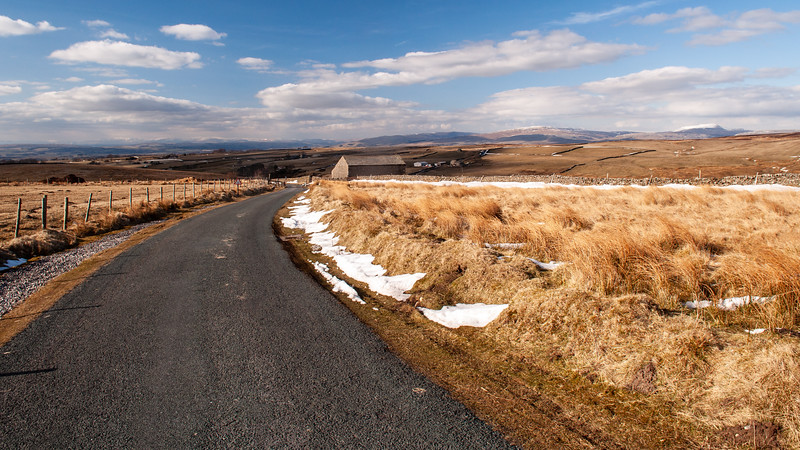 Bowland moors and barn