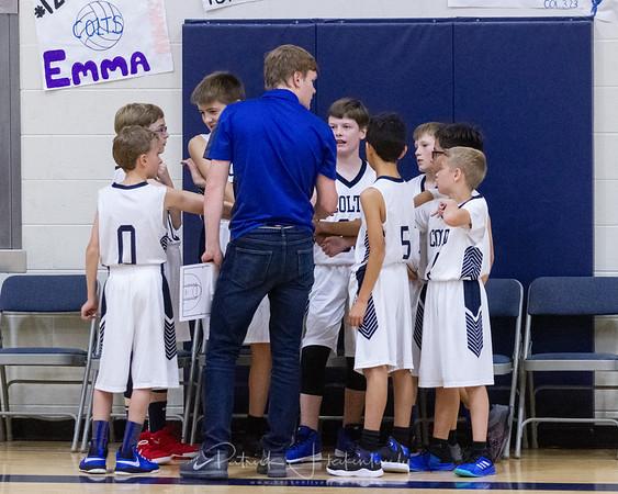 2018-11-07 Hillsdale Academy Junior High Boy's Basketball vs. North Adams