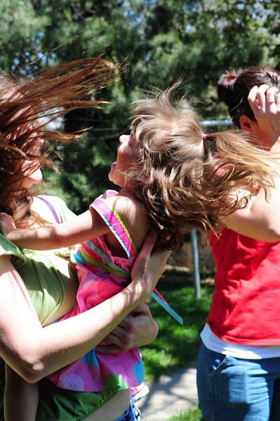 Flying hair and giggles