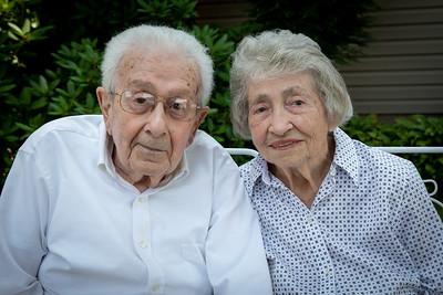 90th Birthdays and 69th Anniversary Family Photos