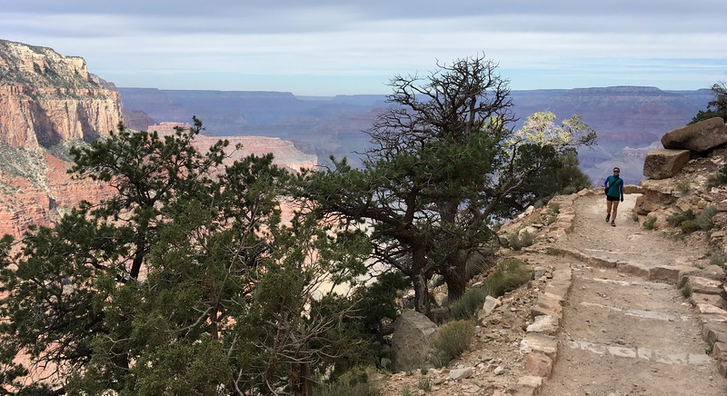 Next morning hike down South Kaibab Trail
