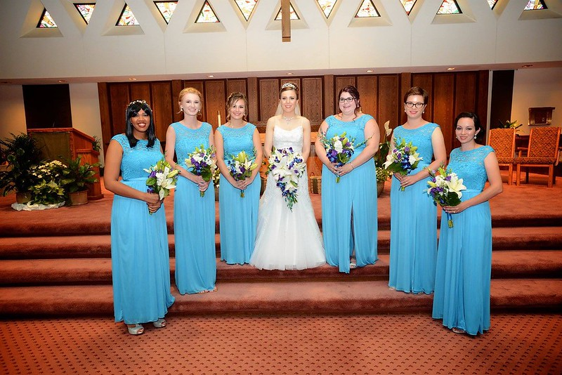 The Bridesmaids -- Jaami Hunter, Lexi Menasion, Elizabeth, Allison, Samantha Pavone, Jules Pangborn-Harley, Jessica Dunn - July 7, 2017 St. Ambrose Church