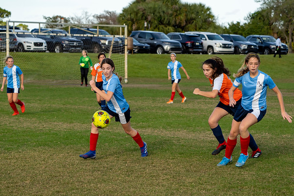RA GIRLS Soccer Varsity and JV, Feb 2020