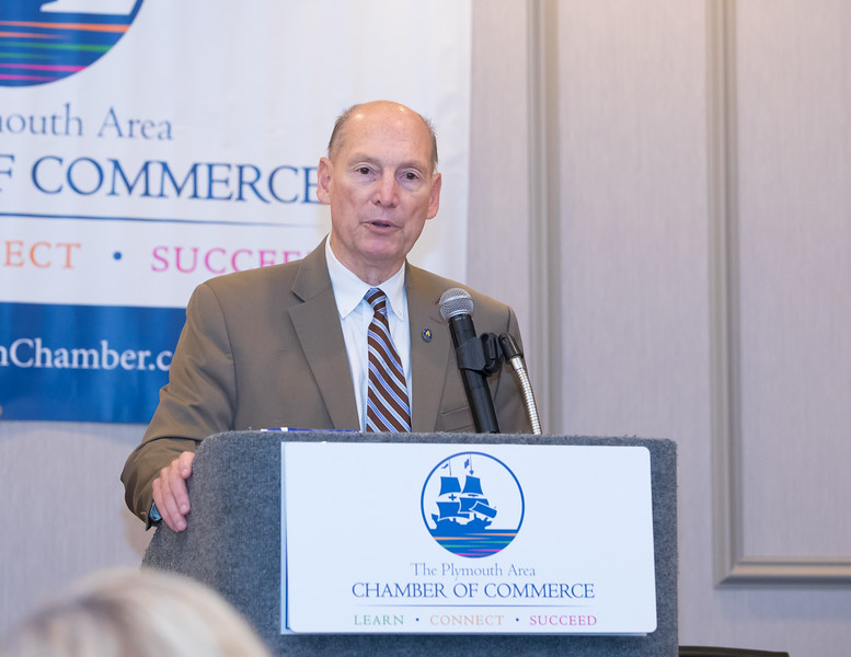 Plymouth County Register of Deeds, John R. Buckley Jr. explains the downturn in house sales can be attributed to higher interest rates  and which also negatively affects remortgaging. Wicked Local Photo/Denise Maccaferri