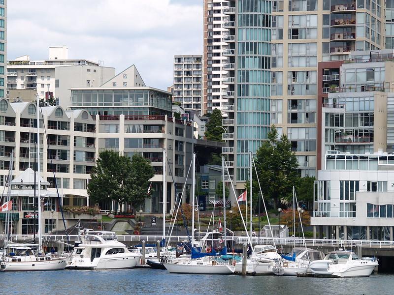 A small marina across Granville Island - sailboats are very popular (2006).