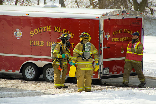 South Elgin Dec. 18, 2007 - HazMat (suspicious powder in an envelope)