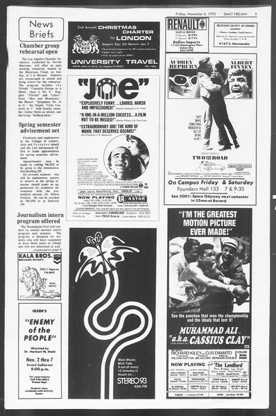 Daily Trojan, Vol. 62, No. 33, November 06, 1970
