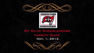 MO Cheerleading at Varsity game - Nov 01, 2013