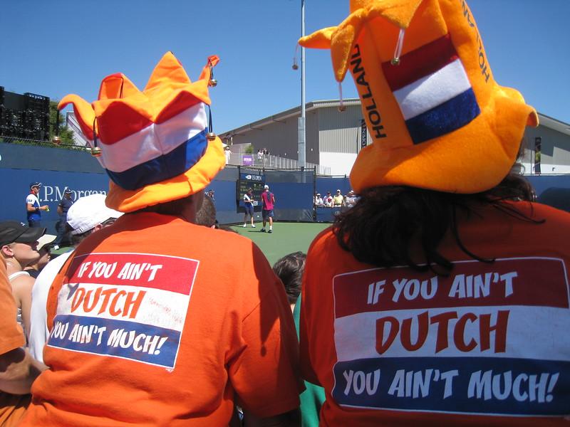 Dutch supporters of De Thiemer