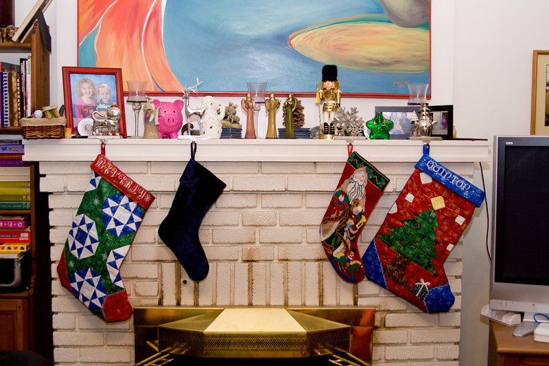 """The stockings were hung by the chimney with care..."""