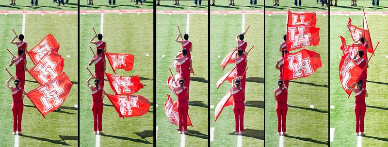 Flag twirler sequence