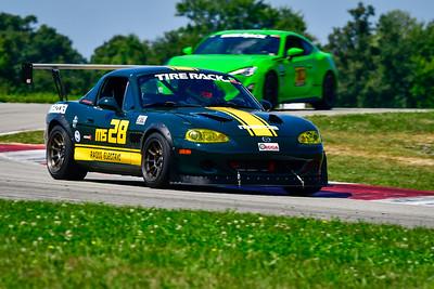 2021 SCCA Pitt Race Aug TT Green 28 Miata