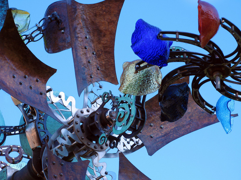 Stevenson, WA - Close-up of a neat sculpture in a little park near the Columbia River.
