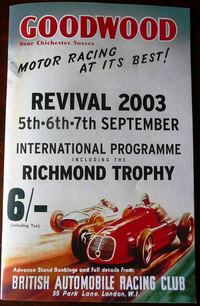 Goodwood Revival 2003 Program cover