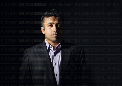 Raja Mukerji, president and co-founder of ExtraHop Networks, is pictured in his company's headquarters in Seattle, Washington