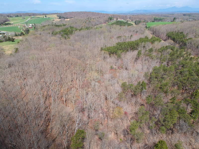 Aerial view from back of property looking toward road