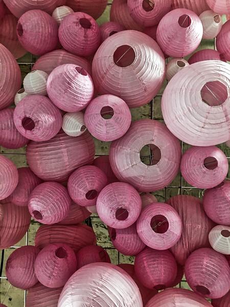 Pink Ceiling Lanterns
