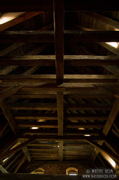 Rafters in Castle    Photography by Wayne Heim