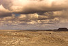 Weather moving in over the painted desert.