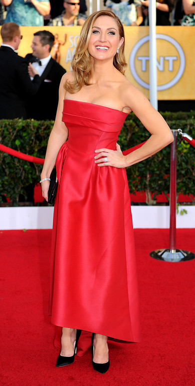 . Sasha Alexander arrives at the 20th Annual Screen Actors Guild Awards  at the Shrine Auditorium in Los Angeles, California on Saturday January 18, 2014 (Photo by Michael Owen Baker / Los Angeles Daily News)
