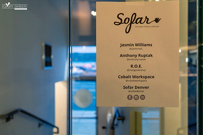 Sofar Denver | Jasmin Williams, Anthony Ruptak, R.O.E. (by Gary Sheer Photography) | Cobalt Workspaces | 05.01.2019
