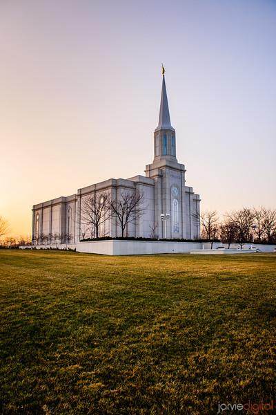St Louis Temple Grassy Sunset