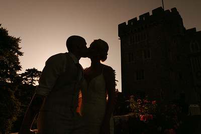 Charlie and Declan St Donat's Castle Wedding