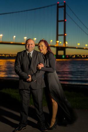 Pete Nata & Tilley at the humber bridge
