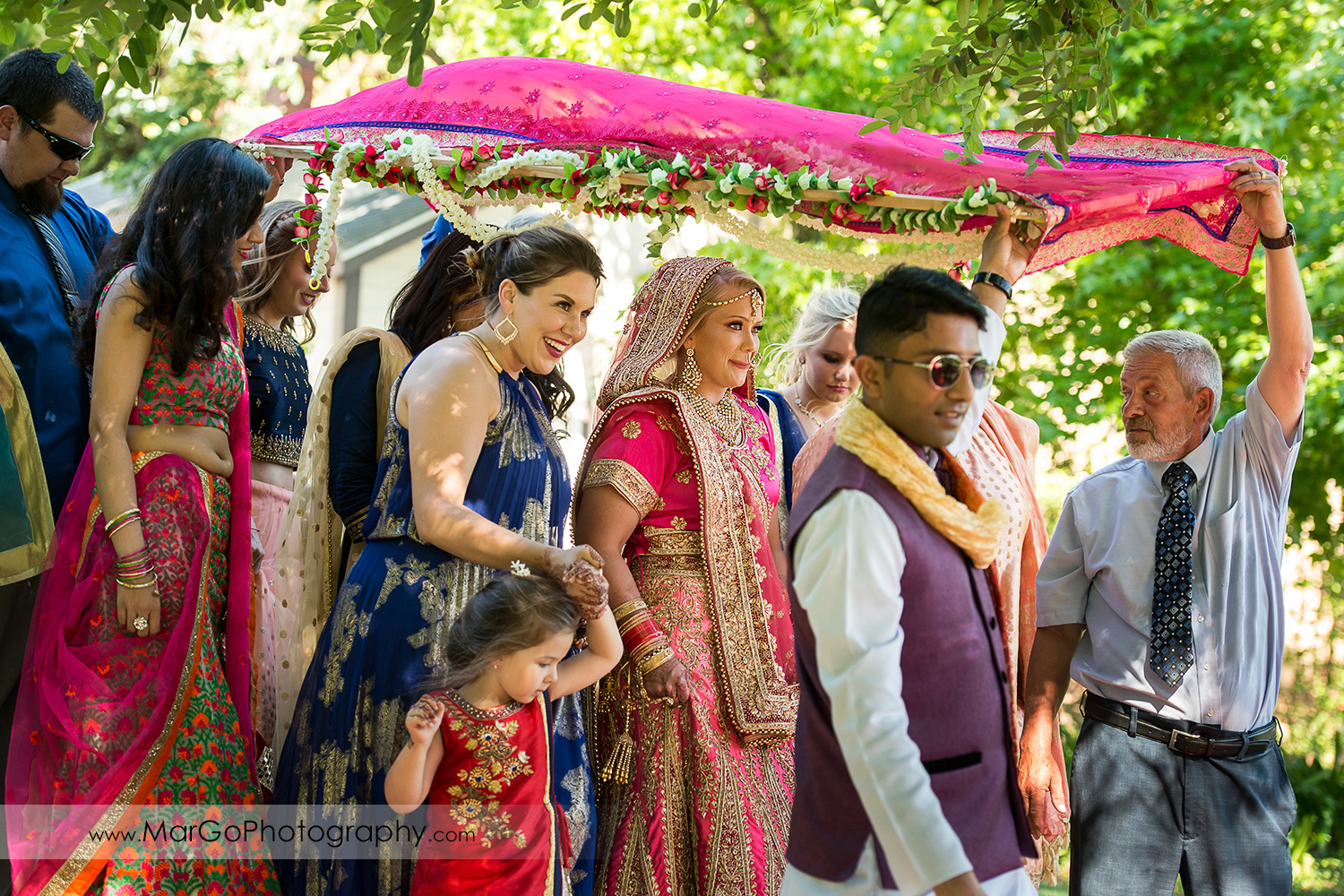 Kanya Aagman - Indian bridal procession during Hindu wedding ceremony at Elliston Vineyards in Sunol