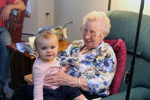 Avie Visiting Great Grandma Avie Nov 2015