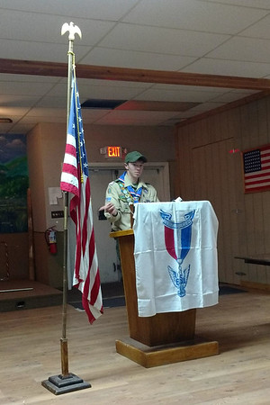 Sam's Eagle Scout Ceremony + Colter's Badges