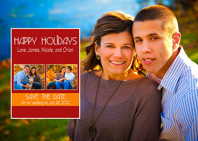 Nicole and James Holiday Card