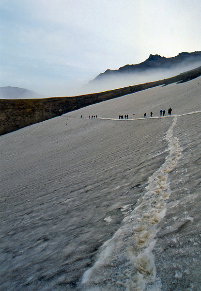 Walking back from the Mutnovsky Volcano - Kamčatka, Russian Federation - Summer 1993