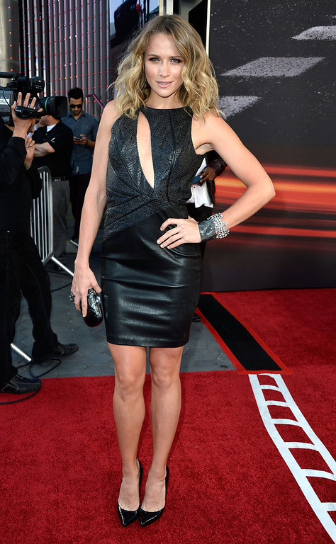 ". Actress Shantel VanSanten arrives at the Premiere Of Universal Pictures\' ""Fast & Furious 6\"" on May 21, 2013 in Universal City, California.  (Photo by Frazer Harrison/Getty Images)"