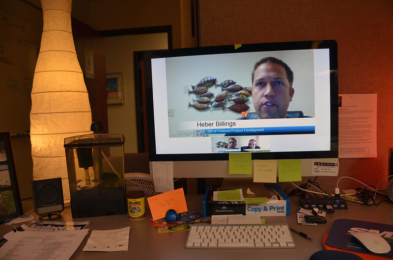 2012-8-13 ––– Heber Billings, our VP of Product Development, did a live web interview with Seth David, an online techie that covers news for the QuickBooks market space. I sat and watched in my office. Heber did a great job.