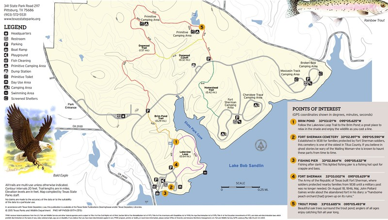 Lake Bob Sandlin State Park (Trails)
