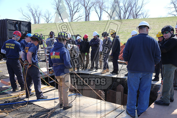 Hartford, Ct Trench Rescue training 4/23/18