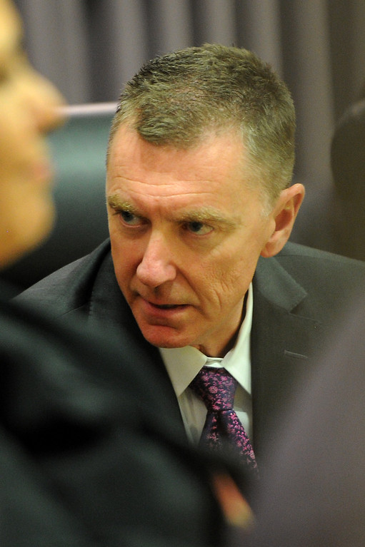 . LAUSD Superintendent John Deasy during a school board meeting at LAUSD headquarters, Tuesday, October 29, 2013. (Photo by Michael Owen Baker/L.A. Daily News)