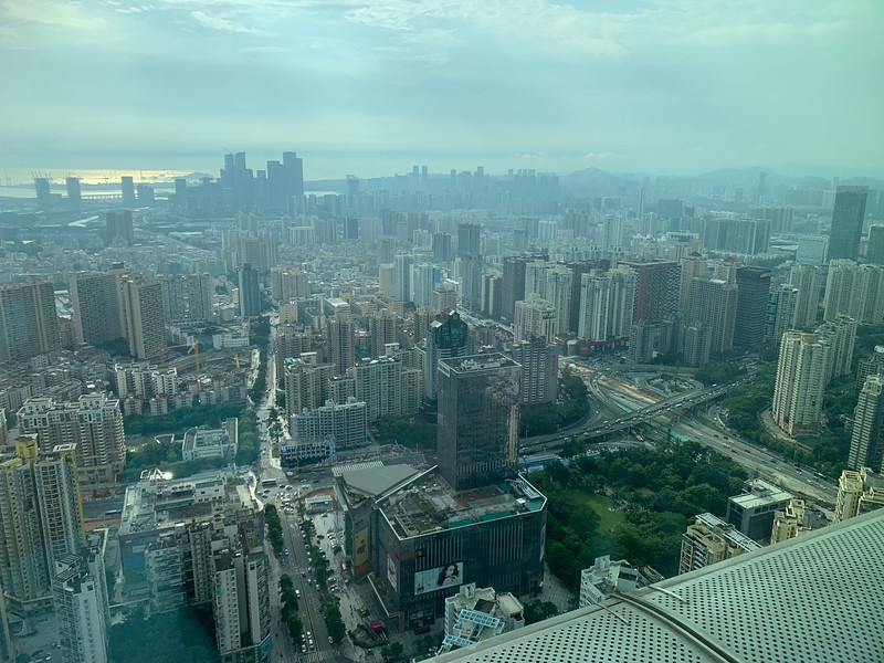 The amazing views at Marriott Shenzhen Nanshan