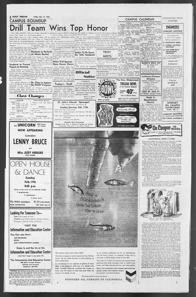 Daily Trojan, Vol. 54, No. 63, February 15, 1963
