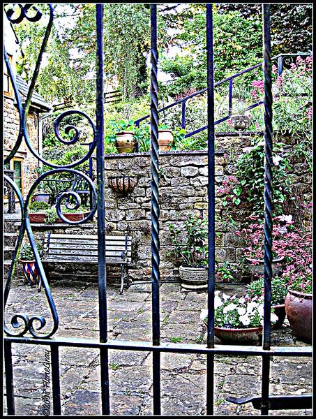 Through the Garden Gate  Looks better bigger  ©2008 FlorieGray