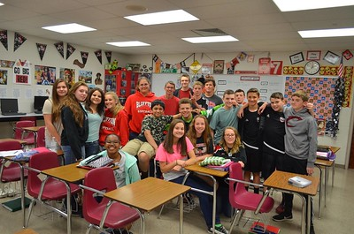 8th grade - Class of 2021 class room picture